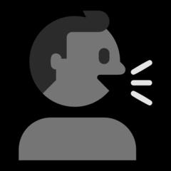 Speaking Head In Silhouette microsoft emoji