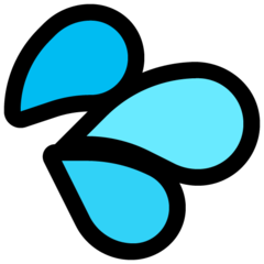 Splashing Sweat Symbol microsoft emoji