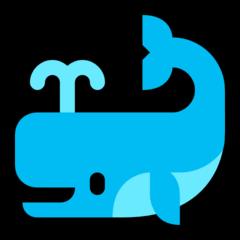 Spouting Whale microsoft emoji