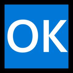 Squared Ok microsoft emoji