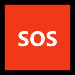Squared Sos microsoft emoji