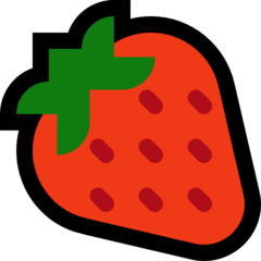 Strawberry microsoft emoji