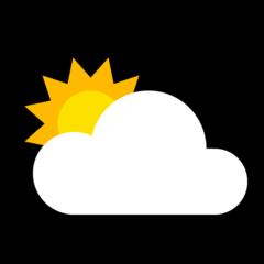 Sun Behind Cloud microsoft emoji
