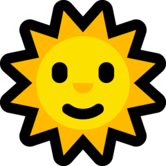 Sun With Face microsoft emoji