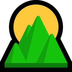 Sunrise Over Mountains microsoft emoji