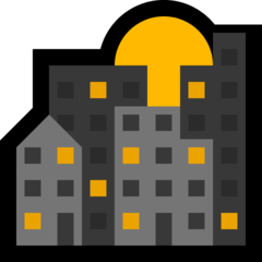 Sunset Over Buildings microsoft emoji