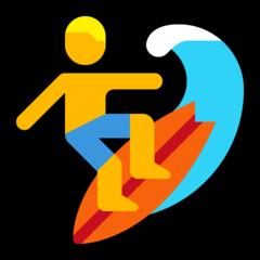 Surfer microsoft emoji