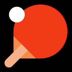 Table Tennis Paddle And Ball microsoft emoji