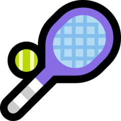 Tennis Racquet And Ball microsoft emoji