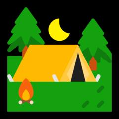 Tent microsoft emoji