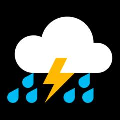 Thunder Cloud And Rain microsoft emoji