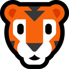 Tiger Face microsoft emoji