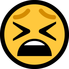 Tired Face microsoft emoji