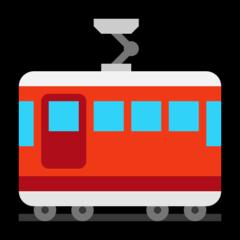 Tram Car microsoft emoji