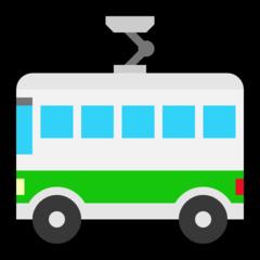 Trolleybus microsoft emoji