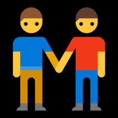 Two Men Holding Hands microsoft emoji