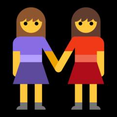 Two Women Holding Hands microsoft emoji