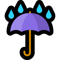 Umbrella With Rain Drops microsoft emoji