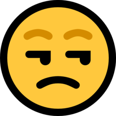 Unamused Face microsoft emoji