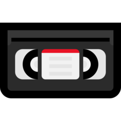 Videocassette microsoft emoji