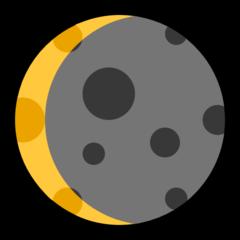 Waning Crescent Moon Symbol microsoft emoji