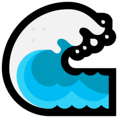 Water Wave microsoft emoji