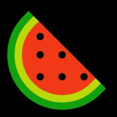 Watermelon microsoft emoji