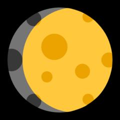 Waxing Gibbous Moon Symbol microsoft emoji
