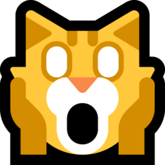 Weary Cat Face microsoft emoji