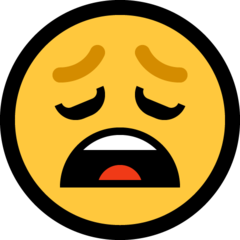 Weary Face microsoft emoji