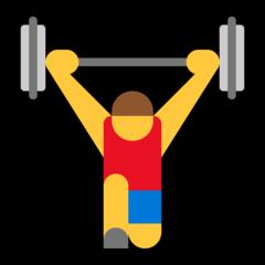 Weight Lifter microsoft emoji