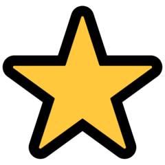 White Medium Star microsoft emoji