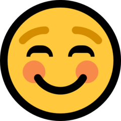 White Smiling Face microsoft emoji
