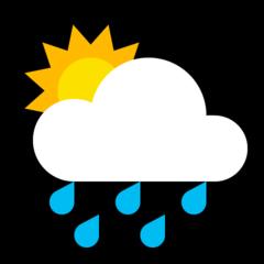 White Sun Behind Cloud With Rain microsoft emoji