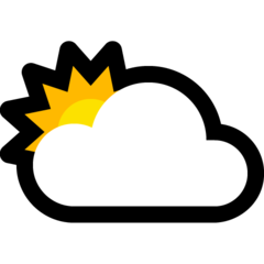 White Sun Behind Cloud microsoft emoji