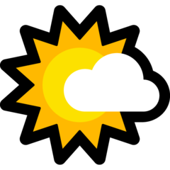 White Sun With Small Cloud microsoft emoji