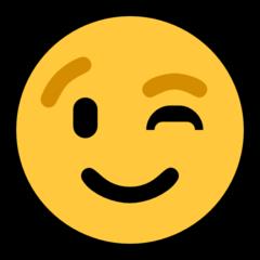 Winking Face microsoft emoji