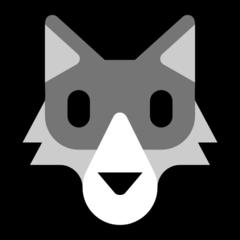 Wolf Face microsoft emoji