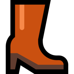 Womans Boots microsoft emoji