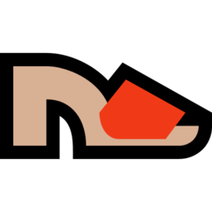 Womans Sandal microsoft emoji