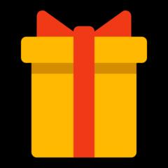Wrapped Present microsoft emoji