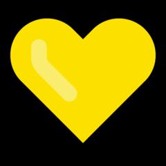 Yellow Heart microsoft emoji