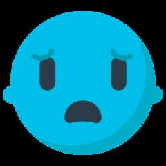 Anguished Face mozilla emoji