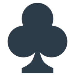 Black Club Suit mozilla emoji