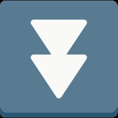Black Down-pointing Double Triangle mozilla emoji