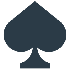 Black Spade Suit mozilla emoji