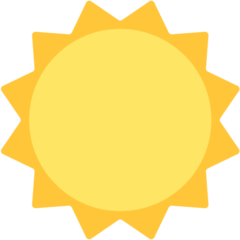 Black Sun With Rays mozilla emoji