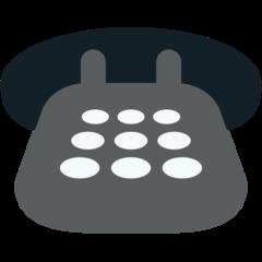 Black Telephone mozilla emoji