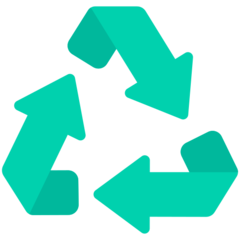 Black Universal Recycling Symbol mozilla emoji