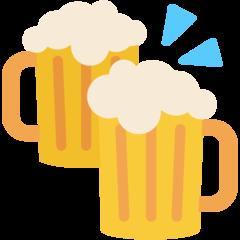 Clinking Beer Mugs mozilla emoji